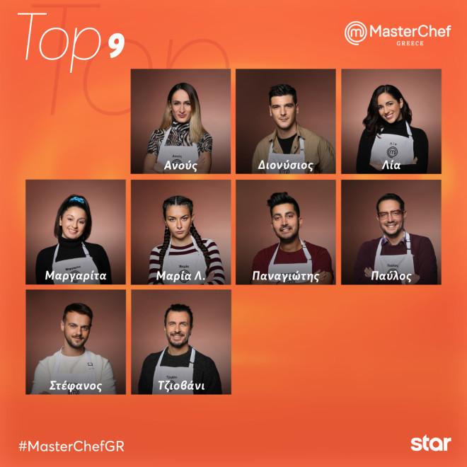 MasterChef 5 - Οι top 9 του διαγωνισμού μαγειρικής