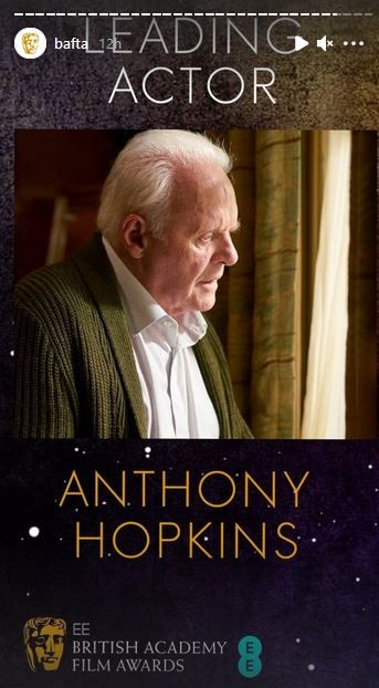 O Anthony Hopkins κέρδισε το βραβείο καλύτερου ηθοποιού για τον ρόλο του στην ταινία «The Father»