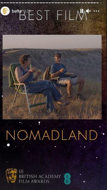 Bafta 2021: Καλύτερη ταινία αναδείχτηκε το Nomadland