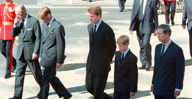 Πρίγκιπας Φίλιππος Πρίγκιπας Γουίλιαμ Ερλ Σπένσερ Πρίγκιπας Χάρι Πρίγκιπας Κάρολος κηδεία