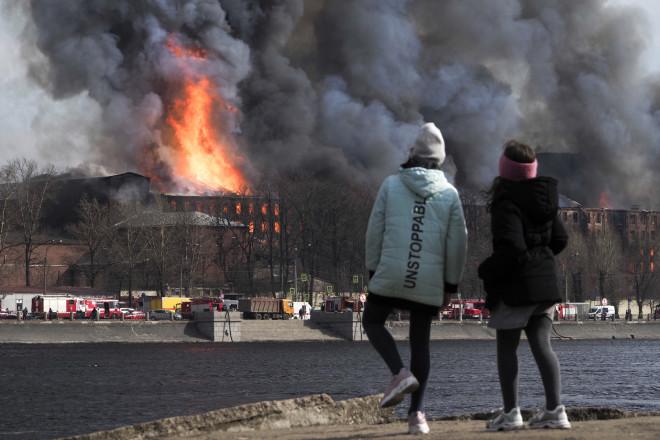 φωτιά εργοστάσιο Ρωσία