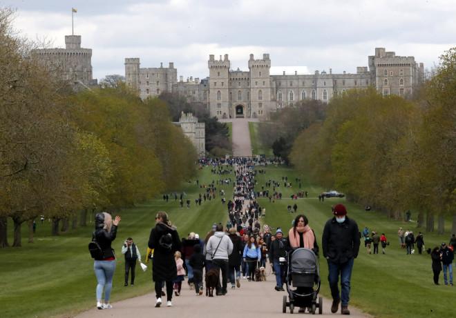 To κάστρο τουΟυίνδσορ όπου θα γίνει η κηδεία του πρίγκιπα Φίλιππου - φωτογραφία ΑΡ