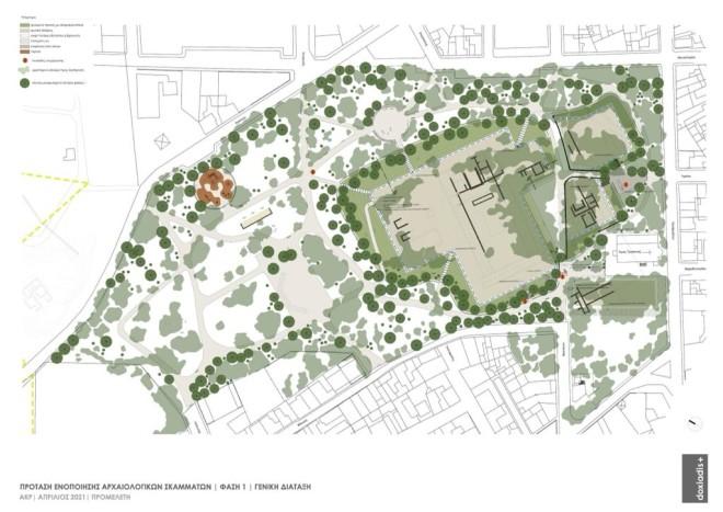 Το σχεδιάγραμμα για την πρόταση ενοποίησης αρχαιολογικών σκαμμάτων