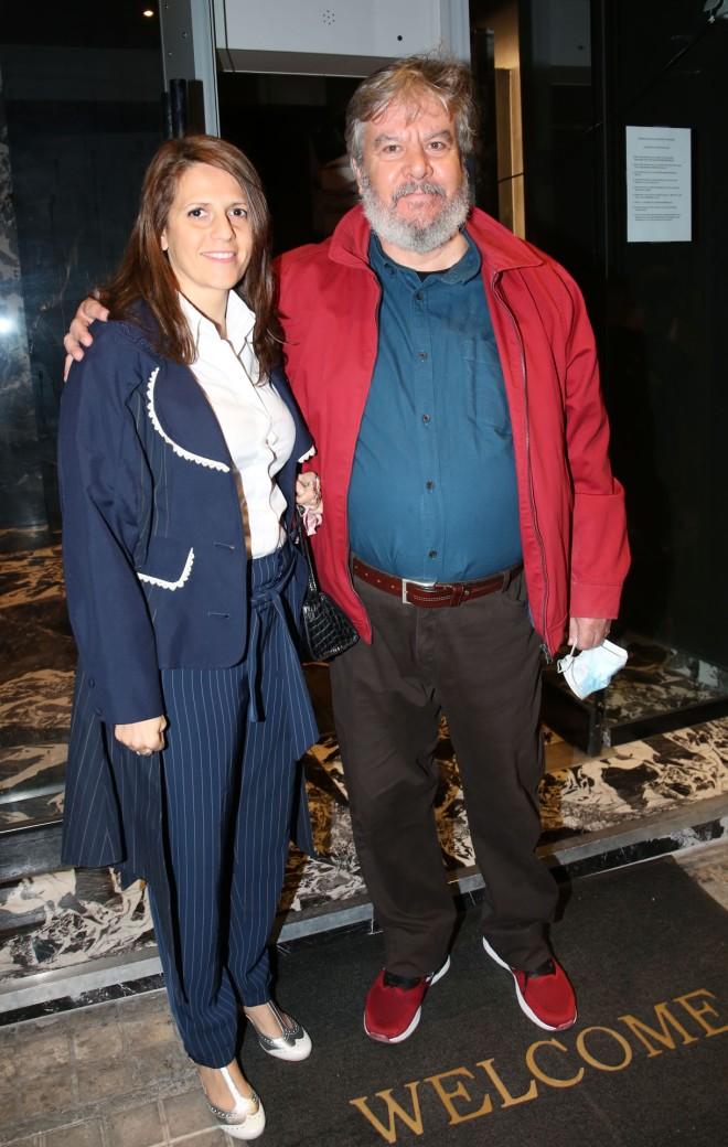 Ο Βασίλης Χαλακατεβάκης με τη σύζυγό του, Δέσποινα Μαραγκουδάκη