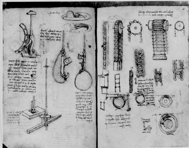 Σχέδια του Λεονάρντο Ντα Βίντσι