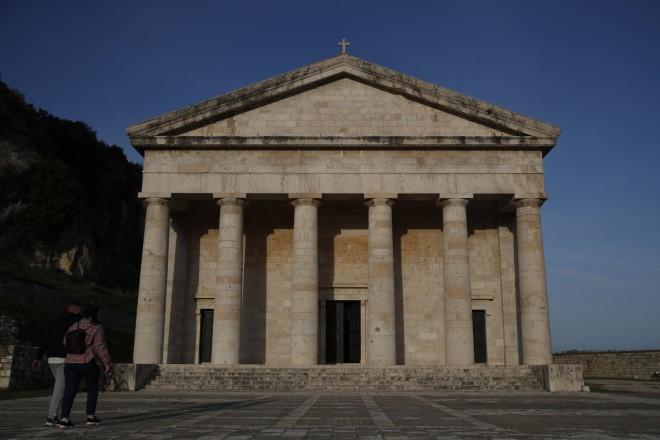 Ο ναός του Αγίου Γεωργίου στην Κέρκυρα, όπου βαπτίστηκε ο πρίγκιπας Φίλιππος-φωτογραφία ΑΡ