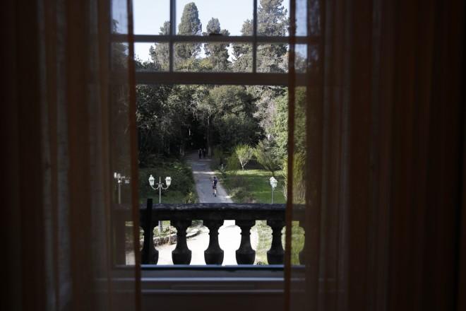 Άποψη της έπαυλης από το εσωτερικό του παλατιού- μουσείου/ φωτογραφία ΑΡ