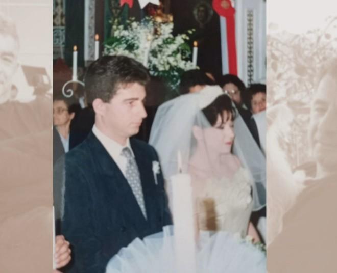 Φωτογραφία από τον γάμο του Γιώργου Καραϊβάζ με τη γυναίκα του-πηγή Αλήθειες με τη Ζήνα