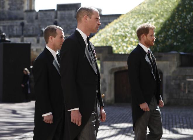 Ουίλιαμ και Χάρι στην κηδεία του Φίλιππου