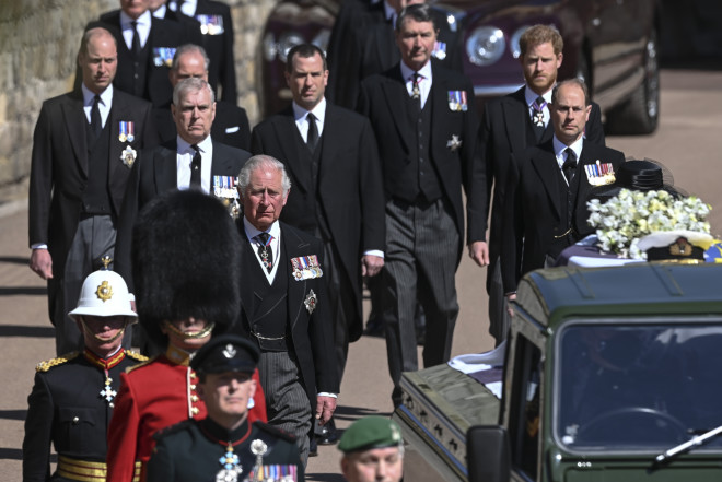 κηδεία Φίλιππου - βασιλική οικογένεια