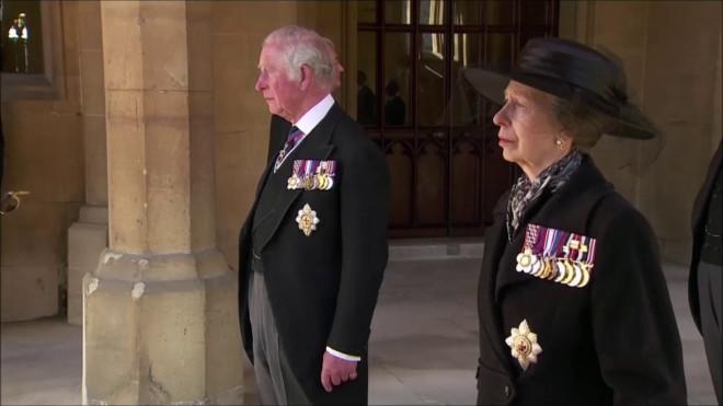 Πρίγκιπας Κάρολος κηδεία Φιλίππου