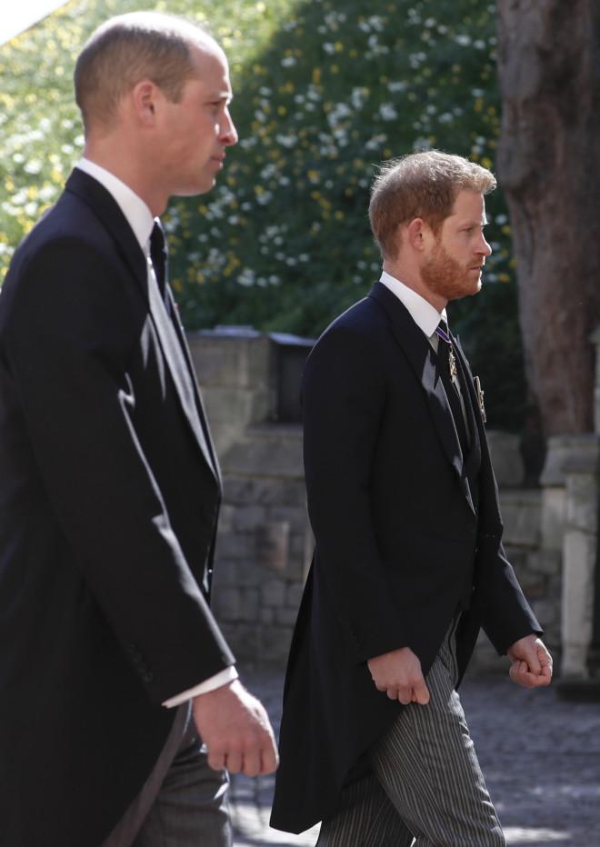 Οι πρίγκιπες William και Harry στην κηδεία του παππού τους, πρίγκιπα Φίλιππου