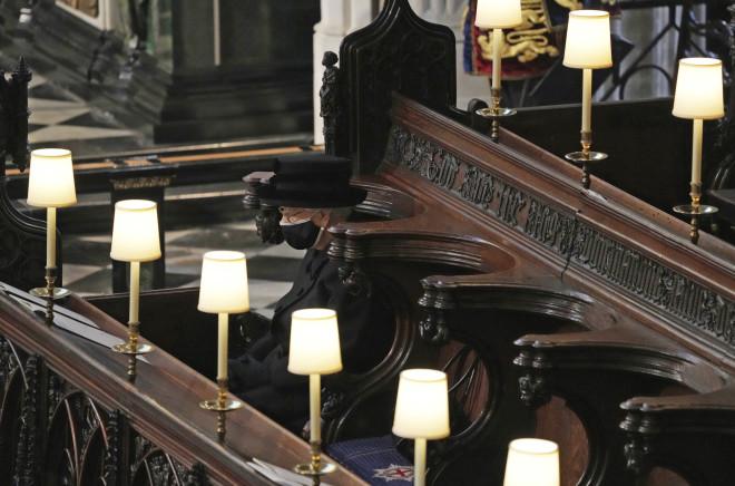 Η βασίλισσα Ελισάβετ στην κηδεία του Φίλιππου