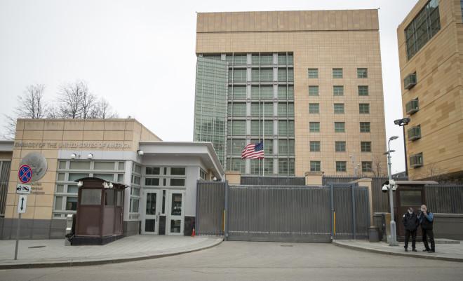 Η αμερικανική πρεσβεία στη Μόσχα - φωτογραφία ΑΡ