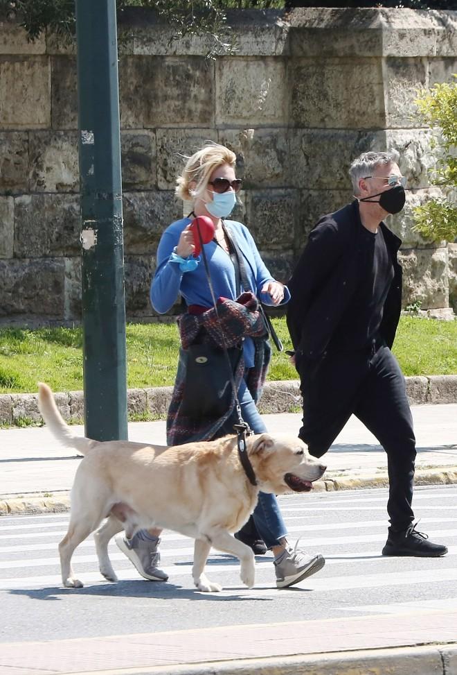 Σμαράγδα Καρύδη - Θοδωρής Αθερίδης: βόλτα τους στο Ζάππειο