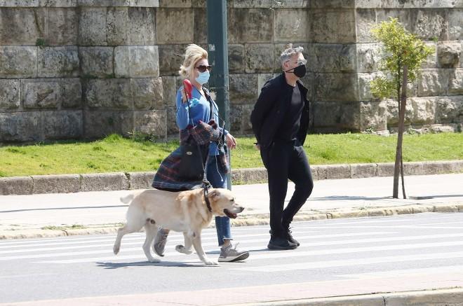 Σμαράγδα Καρύδη - Θοδωρής Αθερίδης: Η βόλτα τους στο Ζάππειο