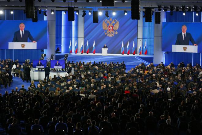 Kατά την ομιλία Πούτινστην ομοσπονδιακή συνέλευση - φωτογραφία ΑΡ