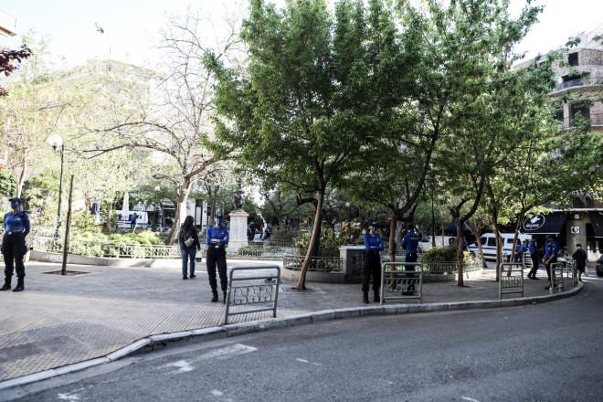 Αστυνομική επιχείρηση στην πλατεία Αγίου Γεωργίου στην Κυψέλη - φωτογραφία Eurokinissi