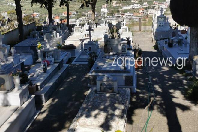 Eικόνα από το κοιμητήριο όπου έγινε η εκταφή- πηγή zarpanews