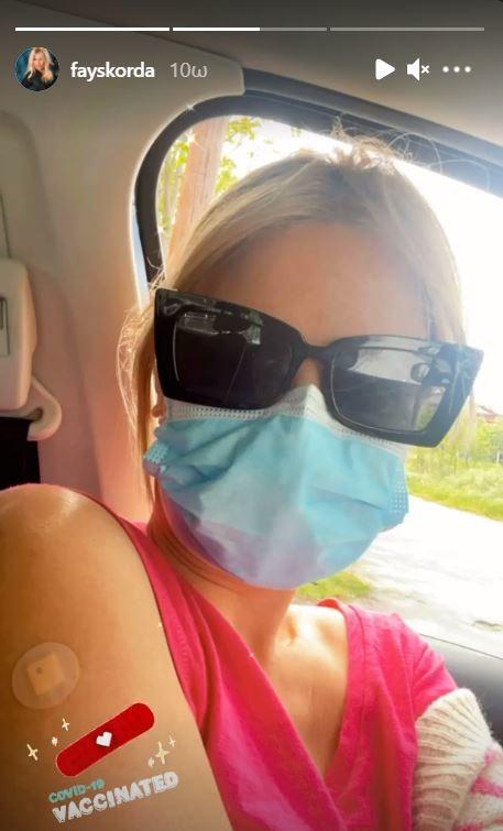Η Φαίη Σκορδά εμβολιάστηκε κατά της Covid19