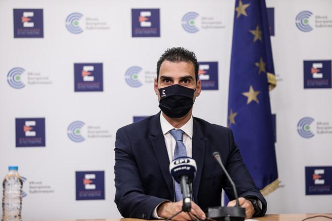 Ογενικός γραμματέας Πρωτοβάθμιας Φροντίδας Υγείας Μάριος Θεμιστοκλέους, κατά τη σημερινή ενημέρωση από το υπουργείο Υγείας- φωτογραφία Eurokinissi