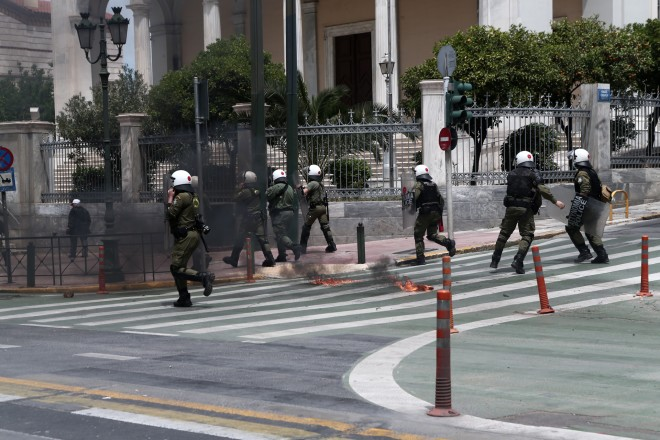 αστυνομικοί στο κέντρο της Αθήνας