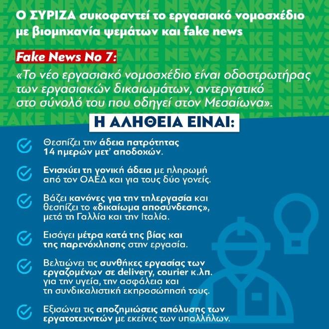 ΝΔ fake news ΣΥΡΙΖΑ Νο 7