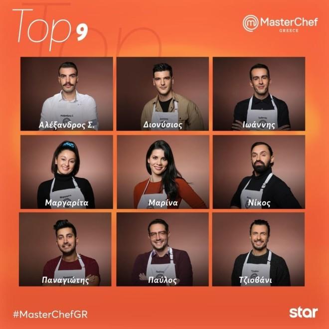 Οι top 9 του MasterChef 5