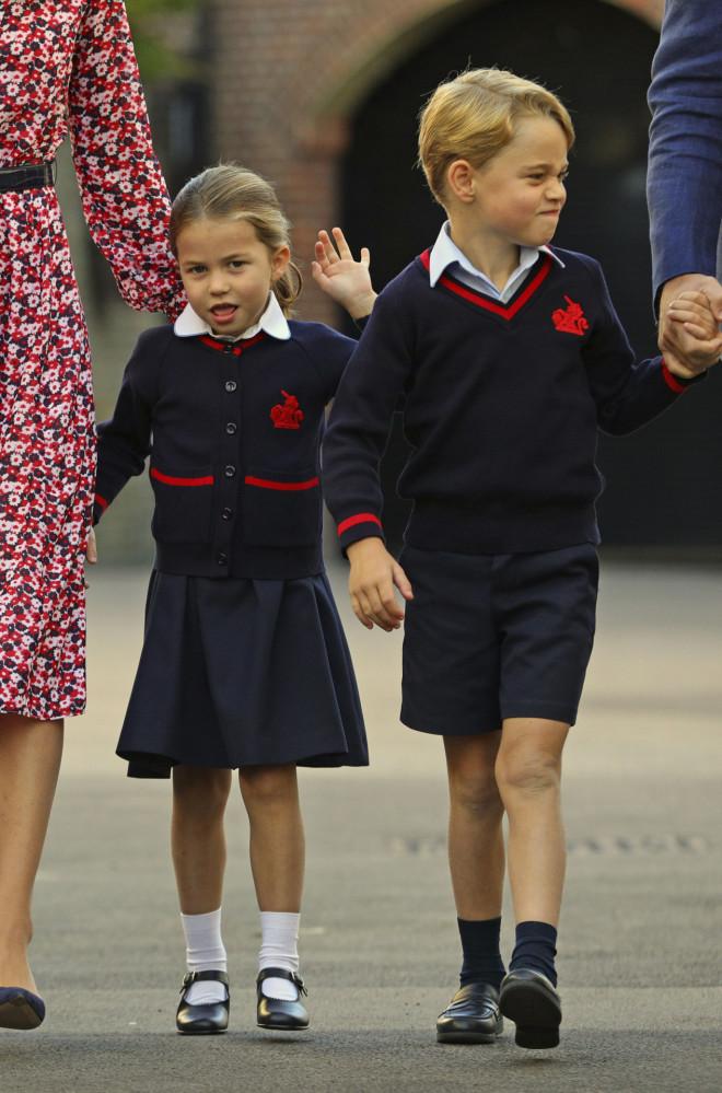 Πριγκίπισσα Charlotte - Πρίγκιπας George γκριμάτσες