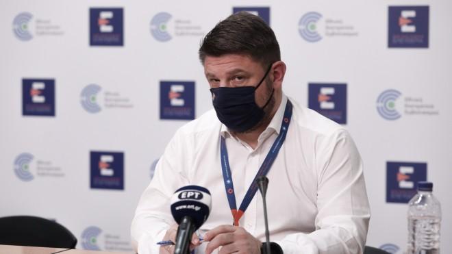 Νίκος Χαρδαλιάς, κατά τη σημερινή ενημέρωση από το υπουργείο Υγείας