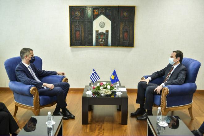 Ο Κώστας Μπακογιάννης συναντήθηκε με τονΠρωθυπουργό του Κοσόβου κ. Albin Kurti