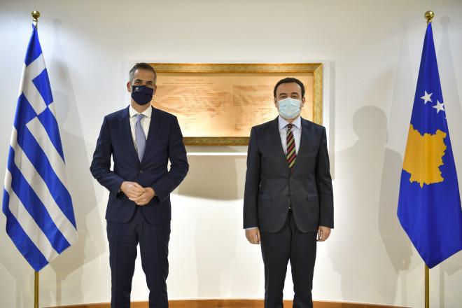 Ο Κώστας Μπακογιάννης με τονΠρωθυπουργό του Κοσόβου κ. Albin Kurti