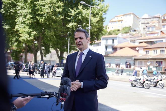 Στην«Κοινωνική» Σύνοδο Κορυφής στο Πόρτο ο Κυριάκος Μητσοτάκης- φωτογραφία Eurokinissi