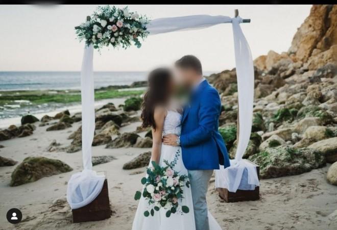 Φωτογραφία από τον γάμο του ζευγαριού