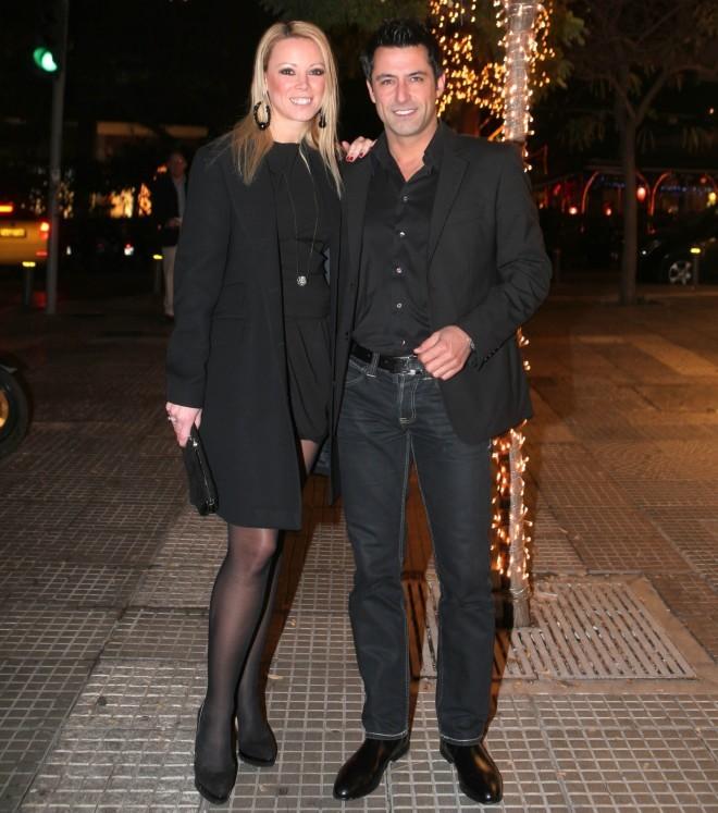 H Εβελίνα Βαρσάμη κι ο Κωνσταντίνος Αγγελίδης σε νυχτερινή τους έξοδο το 2010 /Φωτογραφία NDP Photo Agency