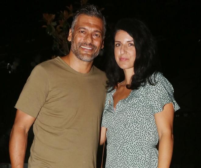 Ο Στέλιος Κρητικός με την αγαπημένη του, Κάτια Παπαδοπούλου