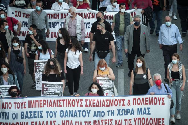 Πορεία υπέρ των Παλαιστίνιων στην Αθήνα