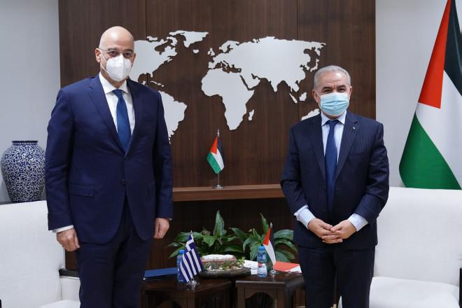 Δένδιας με Παλαιστίνιο πρωθυπουργό