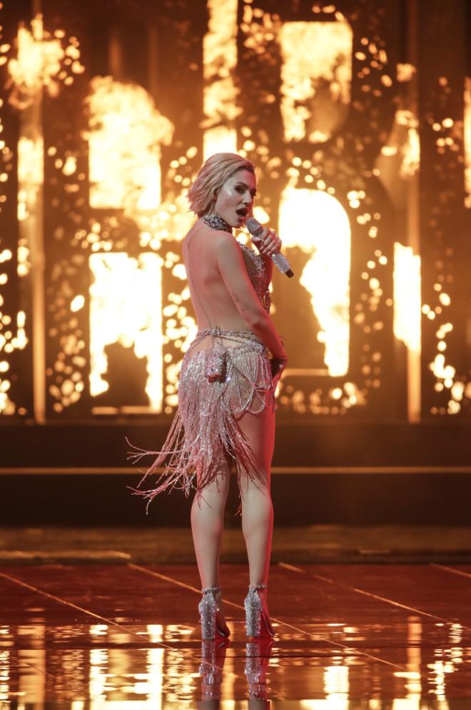 Eurovision 2021 Η εμφάνιση της Έλενας Τσαγκρινού στον Α' ημιτελικό