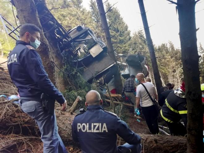 Τελεφερίκ Ιταλία Διασώστες