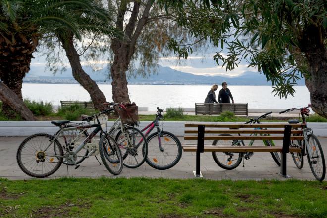 ποδήλατα στη θάλασσα