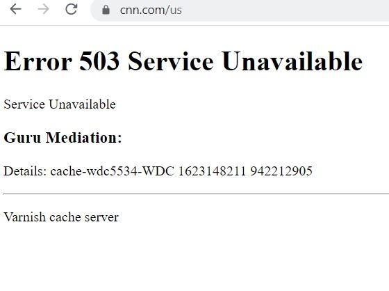 CNN εκτός λειτουργίας