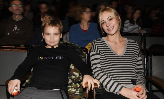 Η Λίνα Σακκά με τον γιο της, Μάριο Καραμάνη