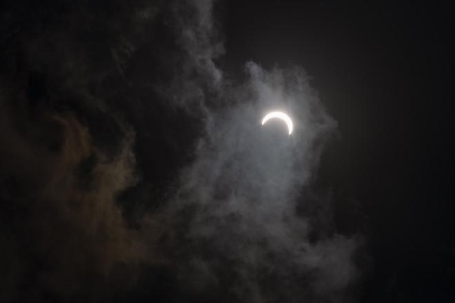 Η έκλειψη ηλίου στις 21/6/20 από την Ινδία- φωτογραφία ΑΡ