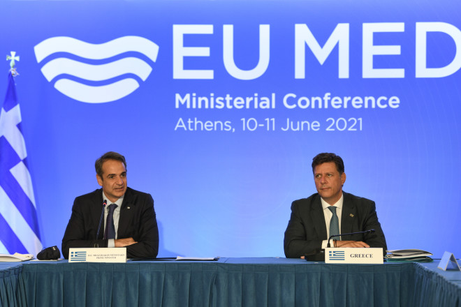 Kυριάκος Μητσοτάκης-Μιλτιάδης Βαρβιτσιώτης στην υπουργική Σύνοδο της MED7