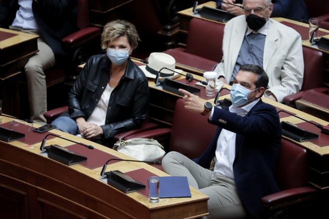 O Aλέξης Τσίπρας σήμερα στη Βουλή- φωτογραφία Eurokinissi