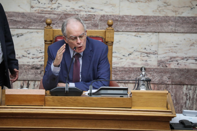 O Κωνσταντίνος Τασούλας σήμερα στη Βουλή- φωτογραφίαEurokinissi