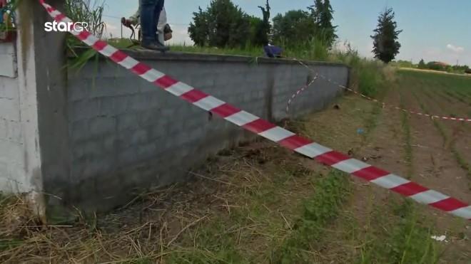To σημείο όπου βρέθηκε η καμένη σορός του 45χρονου κουρέα στην Κατερίνη- κεντρικό δελτίο Star