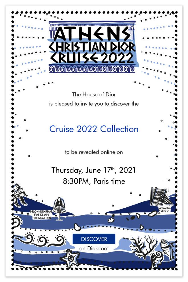 Dior Cruise 2022 Collection - Η επίσημη πρόσκληση