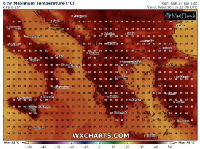 ζέστη Τετάρτη